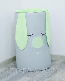 Корзина для игрушек для детской комнаты «Салатовый зайка»
