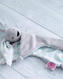 Игрушка-комфортер детская текстильная зайчик «Мятный»