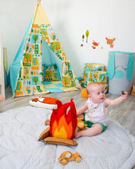 Коврик декоративный хлопковый для детской комнаты «Листик»