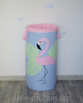Гигантская корзина для игрушек «Фламинго»