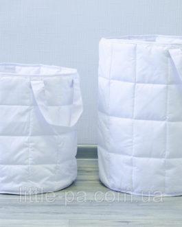 Большая корзина текстильная для игрушек «Белая»