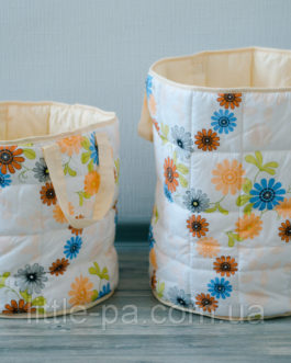 Корзина текстильная для игрушек из хлопка «Волшебный сад»