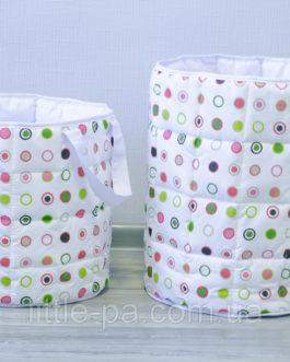 Текстильная большая корзина для детских игрушек «Конфетти»