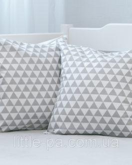 """Маленькая хлопковая подушка для детской """"Скандинавские холмики"""""""