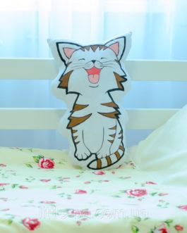 Подушка детская для люльки из хлопка «Котёнок»