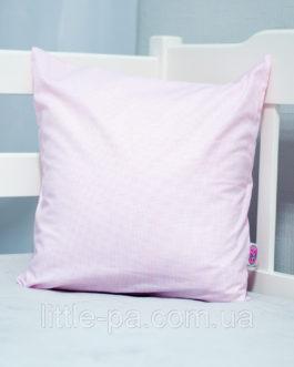 Подушка хлопковая для детской кроватки «Звездопад» (с розовым)