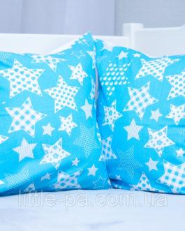 Подушка из хопка маленькая для детской люльки «Звездопад»