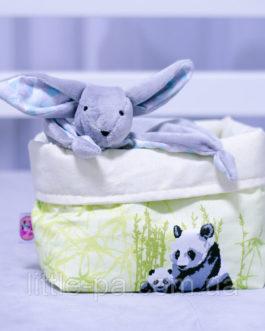Хлопковая коробочка для детских аксессуаров «Пандочки»