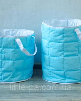 Большая текстильная корзина в детскую комнату «Море»