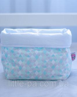 Коробочка из текстиля для детских аксессуаров «3D»