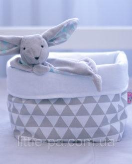 Текстильная маленькая коробочка «Скандинавские холмики»