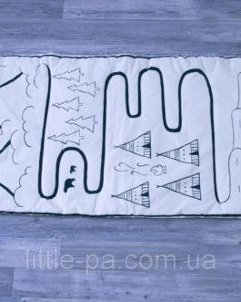 Хлопковый декоративный коврик для детской «Индейская тропа»