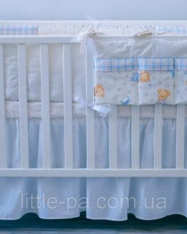 Детское постельное белье «Мишки» (беж/голубой) (120х60)