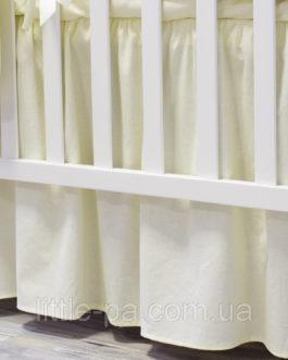 Юбка для кроватки «Ваниль»
