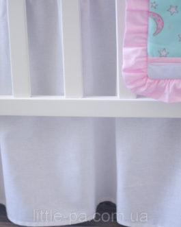 """Юбка для кроватки """"Белая"""""""