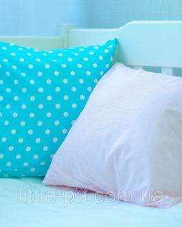 Подушка маленькая хлопковая «Горошки»