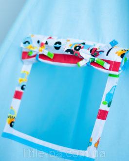 Вигвам для игр детский «Тачки» с матрасом и 2 подушками