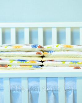 Бортики защитные для кроватки детской  «Волшебный сад»
