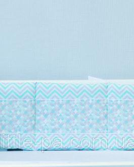 Бамперы для кроватки новорожденного «ЗD»