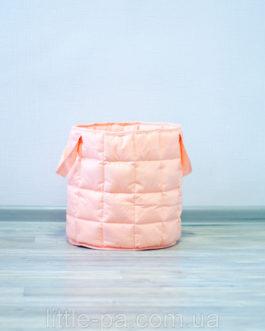 Маленькая корзина для игрушек из хлопка «Персик»