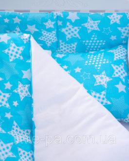 Постельное белье детское хлопковое «Звездопад» (120х60)