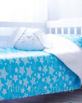 Детское постельное «Звездопад с розовым» (190х90)