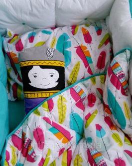 Детское постельное Baba Eva «Чингачгук с изумрудом» (120х60)
