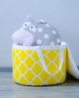 Корзинка на молнии для хранения игрушек «Солнечный зайчик»