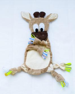 Детская игрушка-грызун из хлопка «Жирафик»