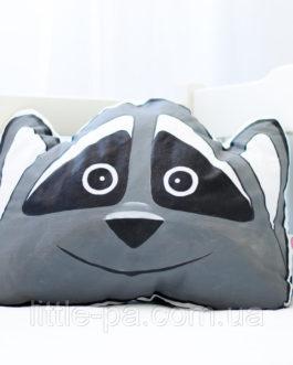 """Хлопковая подушка ручной работы """"Енот"""""""