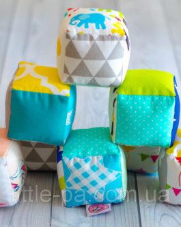 Набор текстильных кубиков для ребенка