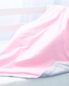 Хлопковый детский плед с плюшем «Ассоль»