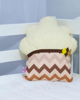 Декоративная подушка в детскую «Маффин шоколадный»
