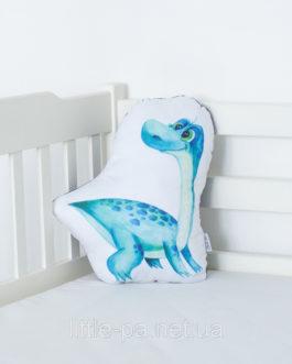 Детская мягкая подушка «Дино Диплодок»