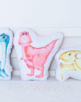 Детская мягкая подушка «Дино Тиранозавр»