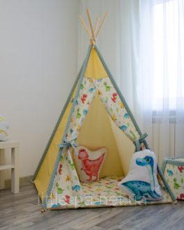"""Игровой детский вигвам """"Дино Парк"""" с ковриком"""