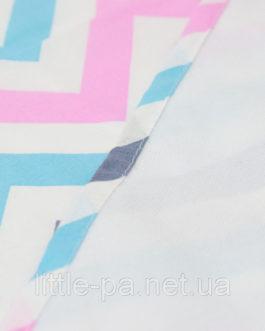 Пелёнка хлопковая непромокаемая «Зефирные зигзаги»